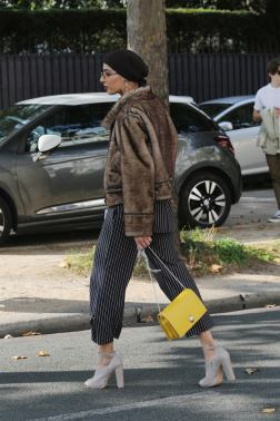 PARIS, FRANCE - SEPTEMBER 26: Fashion stylist, Eman B. Fendi, seen during Paris Fashion Week Womenswear Spring/Summer 2018 on September 26, 2017 in Paris, France. (Photo by Mireya Acierto/Getty Images) *** Local Caption *** Eman B. Fendi
